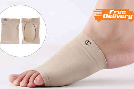Gift box bristol - Gel Padded Foot Arch Support Sleeves One or Two Pairs - Save 73%