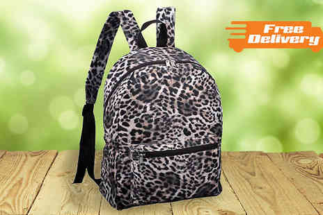 HomeStore Direct - Leopard Print Backpack - Save 20%