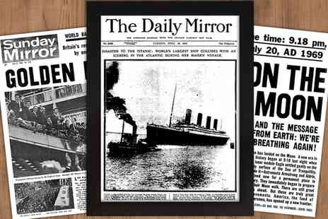 Historic Newspapers - £5 for £10 to Spend at Historical Newspapers - Save 50%