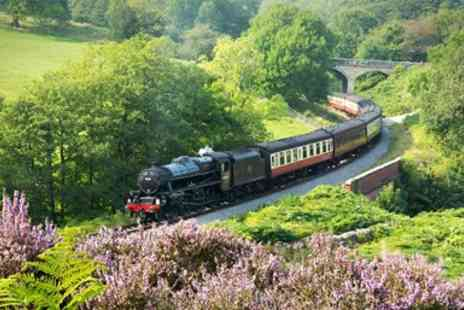 North Yorkshire Moors Railway - Award Winning Steam Train Day Trip for Two - Save 41%