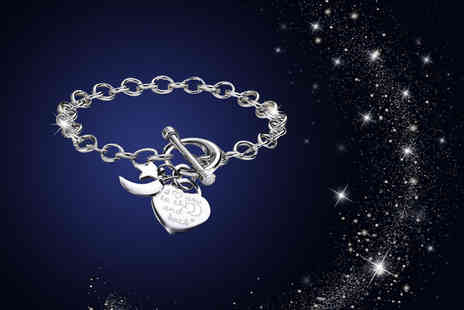 My Boutique Store - Rhodium Plated I love you to the moon and back bracelet - Save 93%