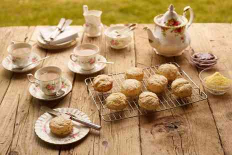 The Barn Tea Room Rockingham - Spring Cream Tea for One or Two  - Save 40%
