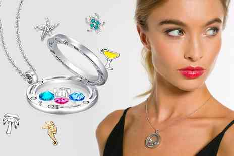 Sarroff - Floating Charm Necklace in Choice of Style Made With SWAROVSKI ELEMENTS With Free Delivery - Save 78%