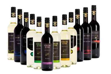Wine Online - 12 Bottle Case of Red, White or Mixed New World Wines With Free Delivery - Save 50%