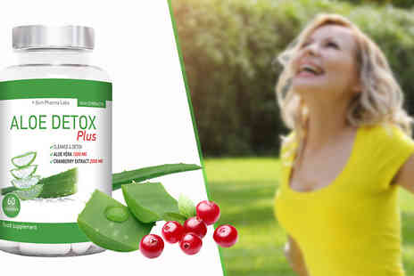 Slim Pharma Labs - One Months Supply of Aloe Detox Plus 60 Capsules - Save 68%