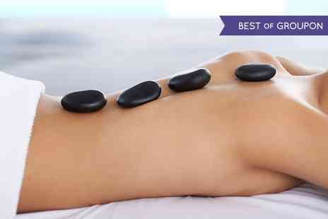 Therapeutic Massages - Facial and Neck, Shoulder and Back Hot Stone Massage - Save 56%