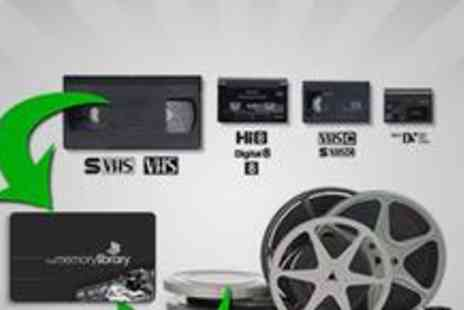 The Memory Library - Convert two VHS tapes to DVD - Save 67%