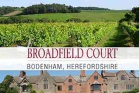 Broadfield Court - Afternoon Tea For Two Plus Garden and Vineyard Tour - Save 51%