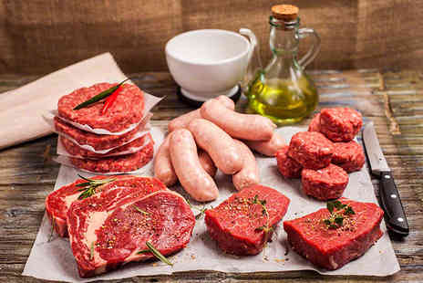 Donald Russell -  23pc premium steak selection box including steaks, burgers, sausages Plus Delivery Included  - Save 63%