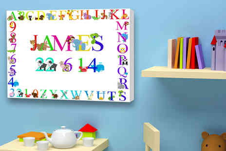 "You Frame International - 16"" x 12"" personalised childrens canvas - Save 77%"