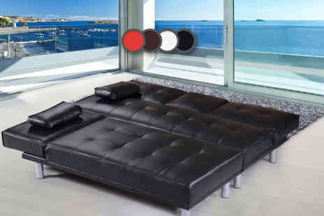 IT Ideas - Manhattan faux leather sofa bed - Save 67%