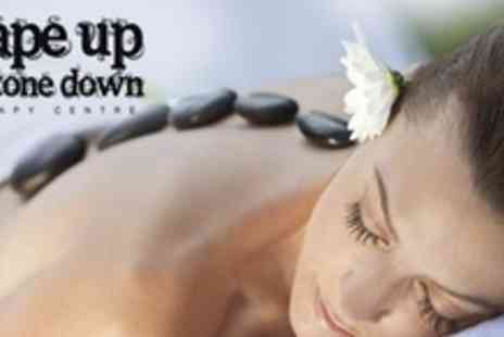 Shape Up and Tone Down - Facial Plus Aromatherapy, Hot Stone or Swedish Massage - Save 63%