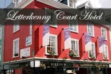 Letterkenny Court Hotel - In County Donegal Two Night Stay For Two With Breakfast and Evening Meal - Save 73%
