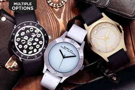 LivingSocial Shop - Marc Jacobs Leather Strap Watches - Save 60%