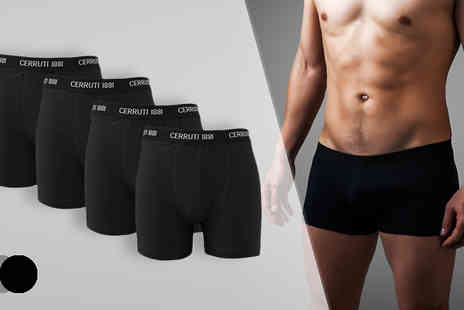 The Beauty Retreat - Cerruti Boxers Four Pack  Available in Two Colours - Save 75%