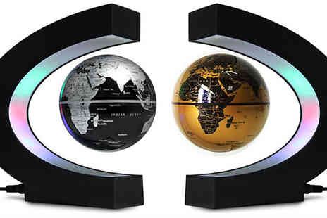 Eblacksquare - LED Floating Globe available in Two Colours - Save 47%