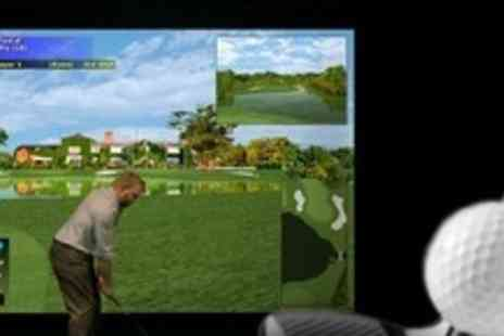 Riverbank Golf Simulator - Two Hour Golf Simulation For Up to Eight - Save 60%