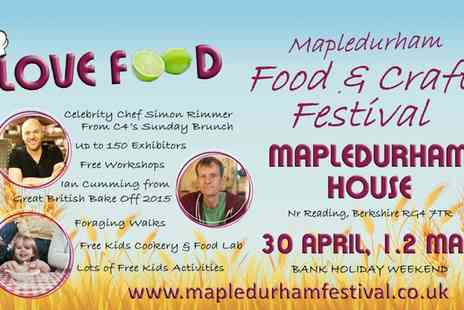Love Food Festivals - Mapledurham Food & Craft Festival Two Adult Day Tickets on 30 April to 2 May  - Save 0%