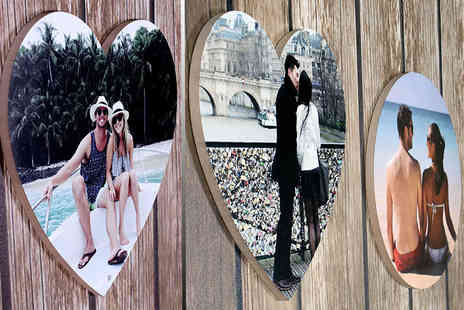 Your Perfect Canvas - 30cm x 30cm personalised heart or circle shaped wall print   - Save 80%