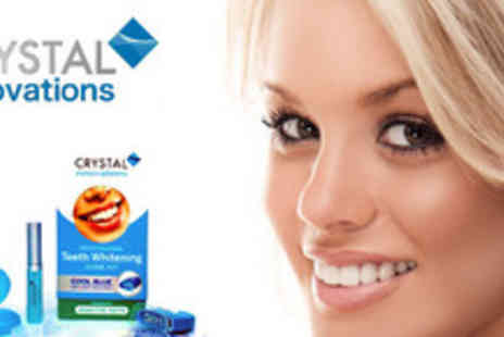 Crystal Innovations - Peroxide free home teeth whitening Kit - Save 75%