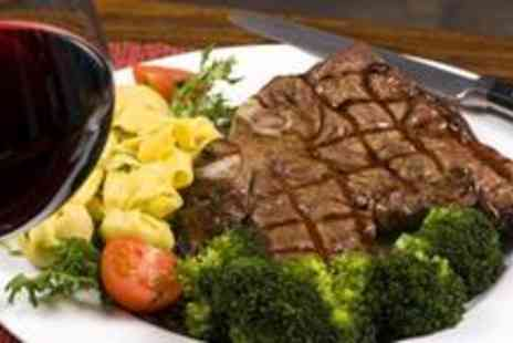 The Grapes - 21 day hung Highland Gold rump steak dinner plus a large glass of red or white wine for two - Save 58%