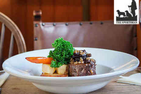 The Sportsman Inn - Three Course Meal for Two - Save 54%