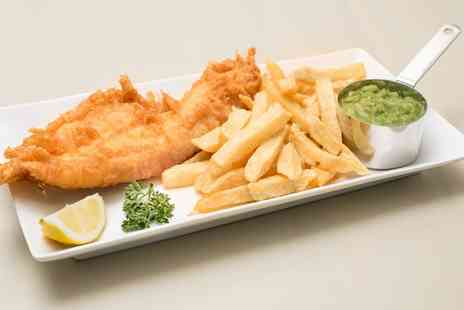 Millers Fish & Chips - Fish and Chips with Side, Bread and Butter, and a Drink for Two or Four - Save 39%