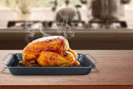 Yes Online - Three piece non stick roasting tray set - Save 63%