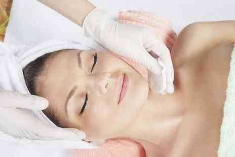 v8skin  - One Hour Skin Polishing Facial with Optional 30 Minute Hot Stone Massage  - Save 62%