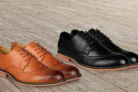Gagala - Mens Faux Leather Brogues  Available in Two Colours - Save 0%