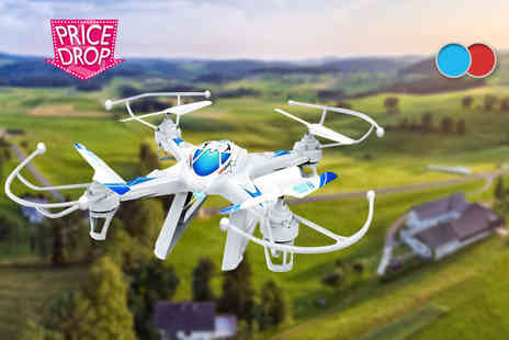 Toys Wizard - TW X8C 2.4G 6CH RC quadcopter drone with gyro 3D and camera - Save 73%