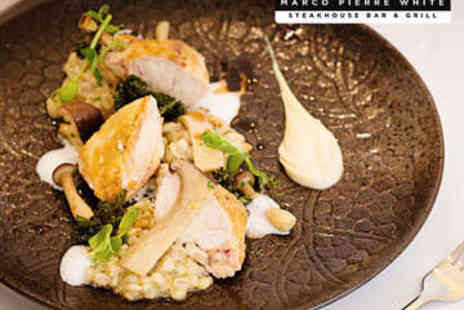 Marco Pierre White Steakhouse - Two Course Lunch for Two - Save 0%
