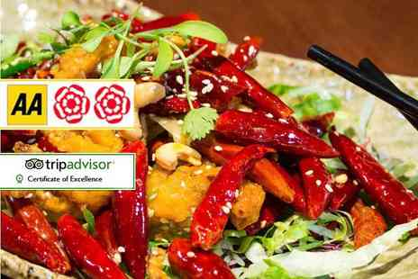 Chinese Cricket Club  - Two course Chinese dinner with rice and a glass of wine each for two  - Save 56%