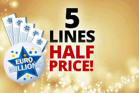 Annexio -Five EuroMillions bet - Save 50%