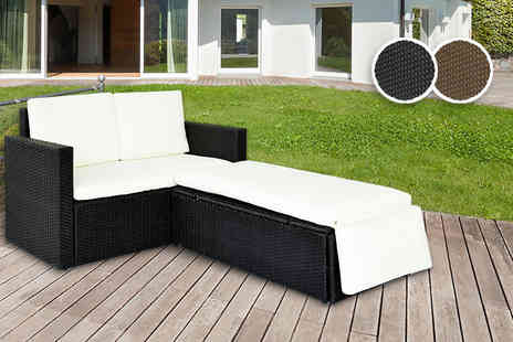 Evre - Six piece rattan set with love seat - Save 72%