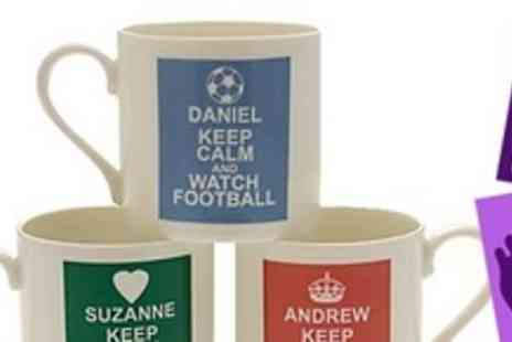 Footprint Direct - Four personalised Keep Calm mugs - Save 69%