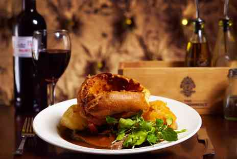 The Establishment Bar & Grill - Two Course Sunday Roast with Wine for Two or Four - Save 52%
