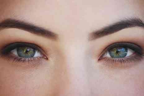 Celestial Beauty - Full Set of Semi Permanent Eyelash Extensions with Tint or Semi Permanent Eyebrows  - Save 55%