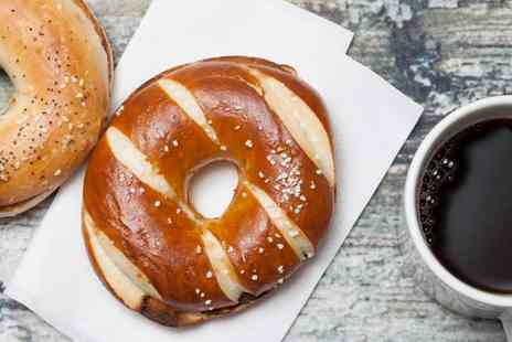Pump & grind - Bagel With Coffee For One, Two or Four  - Save 41%