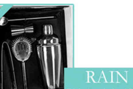 Rain London - 5 Piece Cocktail Shaker Kit - Save 52%
