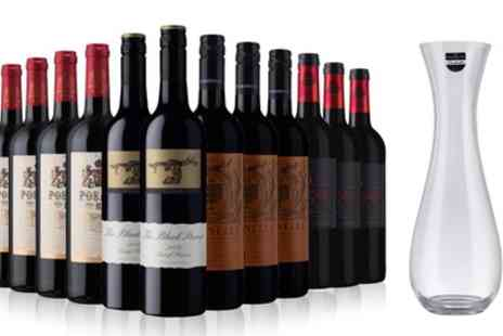 Laithwaites Wine Merchants - Sunday Times Wine Club 12 Bottles of Red Wine Plus a Dartington Decanter  With Free Delivery - Save 56%
