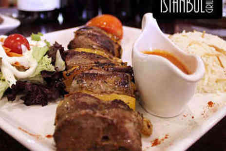 Istanbul Grill  - Three Course Turkish Meal for Two - Save 51%