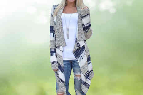 Shapelle - Long Sleeve Waterfall Cardigan - Save 35%