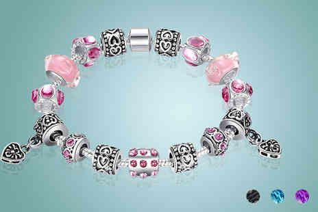 Gagala - Murano Glass Charm Bracelet  Available in Four Colours - Save 0%