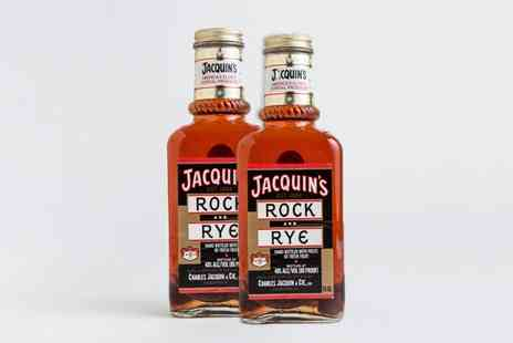 Barells&bottles - Two 75cl Bottles of Jacquins Rock And Rye Whiskey With Free Delivery - Save 63%