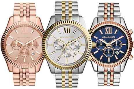 Outlet perfumes - Michael Kors Lexington Watch in Choice of Style With Free Delivery - Save 46%