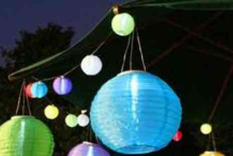 Festive Lights Ltd - Four Chinese Solar Lanterns in a choice of five colours - Save 65%