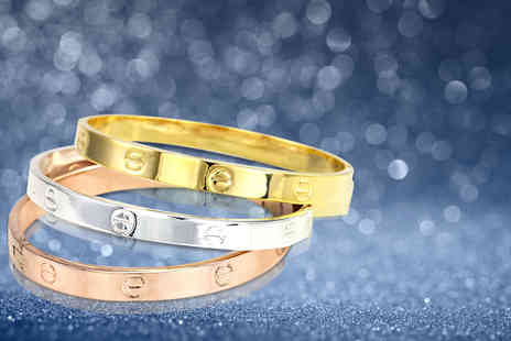 Bijou Amour - Classic gold plated bangle - Save 77%