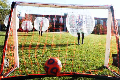 Shirebrook Leisure Centre - 90 minute indoor Zorb bubble football experience for 8 to 15 players with soft drinks included  - Save 0%