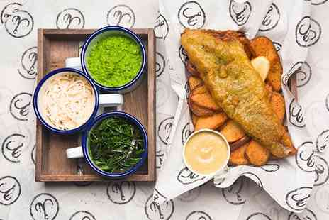 Hook Camden Town - Fish and Chips with a Beer for One, Two or Four  - Save 40%